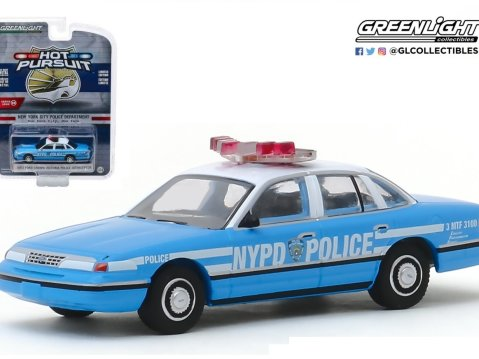 1993 FORD CROWN VICTORIA New York Police Dept 1/64 scale model GREENLIGHT