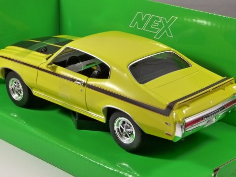 1970 BUICK GSX In Yellow / Black 1/24 scale model by WELLY