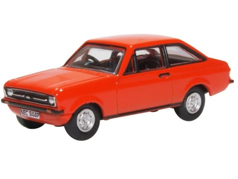 FORD ESCORT Mk2 in Tango Red 1/76 scale model by Oxford Diecast