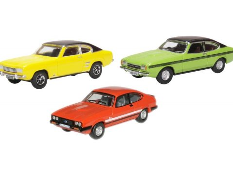 FORD CAPRI Mk1 / Mk2 / Mk3 Set 1/76 scale model Oxford Diecast