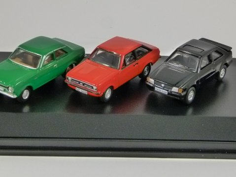 FORD ESCORT Mk1 / Mk2 / Mk3 Set 1/76 scale model Oxford Diecast