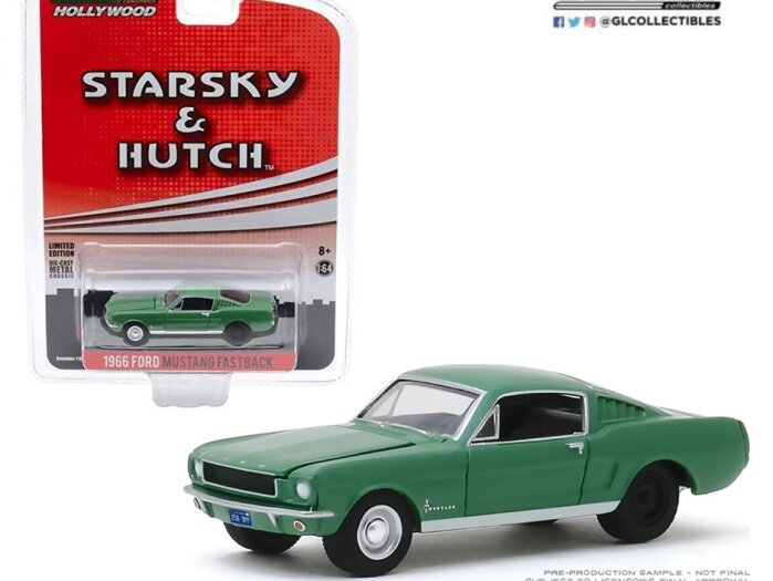 1966 FORD MUSTANG FASTBACK Starsky & Hutch 1/64 scale model GREENLIGHT