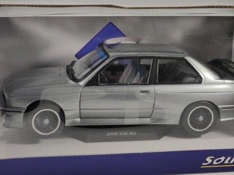 1990 BMW E30 M3 in Silver Metallic 1/18 scale model by SOLIDO