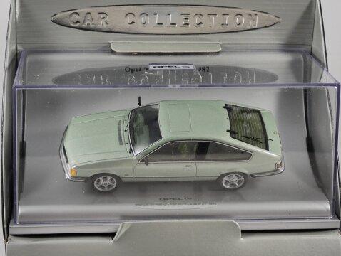 OPEL MONZA A in Metallic Green 1/43 scale dealer model by Schuco