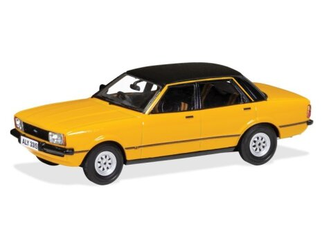 FORD CORTINA Mk4 2.3S in Signal Amber 1/43 scale model by Corgi / Vanguards