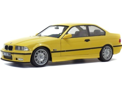 1990 BMW E36 M3 in Dakar Yellow 1/18 scale model by Solido