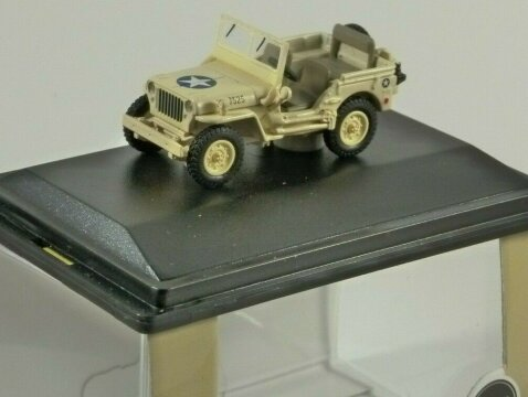 WILLYS MB JEEP USAAF Tunisia 1943 1/76 scale model OXFORD DIECAST