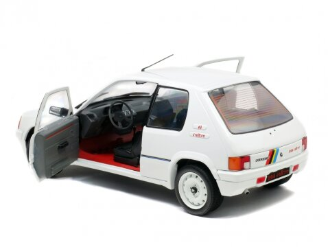 PEUGEOT 205 RALLYE in White 1/18 scale model by Solido