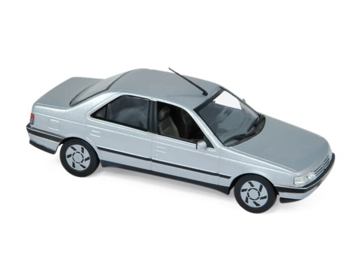 1991 PEUGEOT 405 SRi in Silver 1/43 scale model by Norev