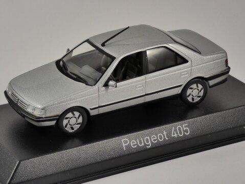 1991 PEUGEOT 405 SRi in Grey 1/43 scale model by Norev