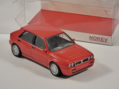 1993 LANCIA DELTA HF EVO in Red 1/43 scale model by Norev