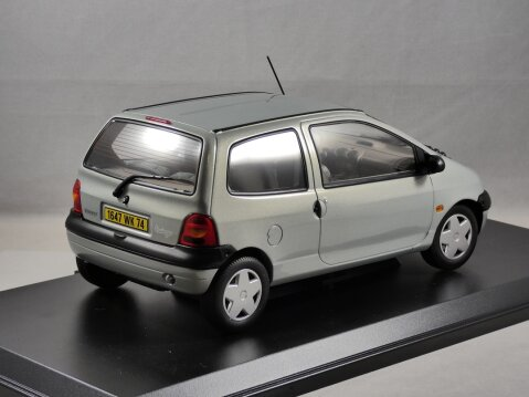 1998 RENAULT TWINGO in Boreal Silver 1/18 scale diecast model by Norev