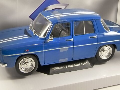 1967 RENAULT 8 GORDINI in Blue 1/18 scale model by SOLIDO