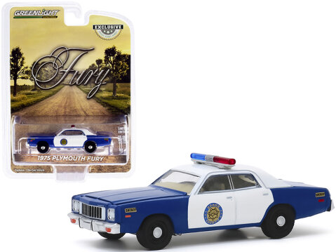 1975 PLYMOUTH FURY Osage County Sheriff 1/64 scale model by Greenlight