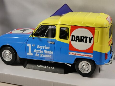 1988 RENAULT 4 F4 VAN - Darty - 1/18 scale model by Solido