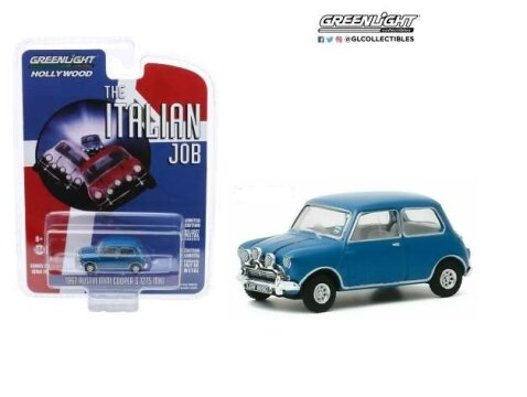 1967 AUSTIN MINI COOPER S 1275 Mk1 in Blue - 1/64 scale model GREENLIGHT