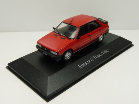 1986 RENAULT 11 TURBO in Red - 1/43 scale partwork model