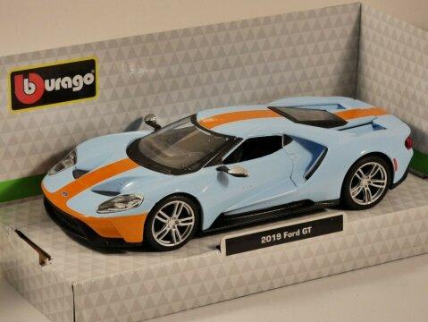 2019 FORD GT 'Gulf' 1/32 scale model by Burago