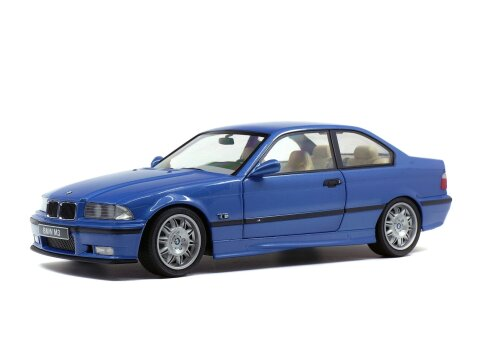 1994 BMW E36 M3 COUPE in Estoril Blue 1/18 scale model by Solido