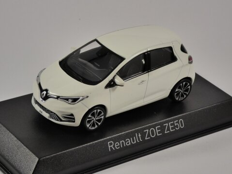 2020 RENAULT ZOE ZE50 in White 1/43 scale model by Norev