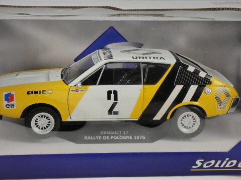 1976 RENAULT 17 Rallye De Pologne 1/18 scale model by SOLIDO