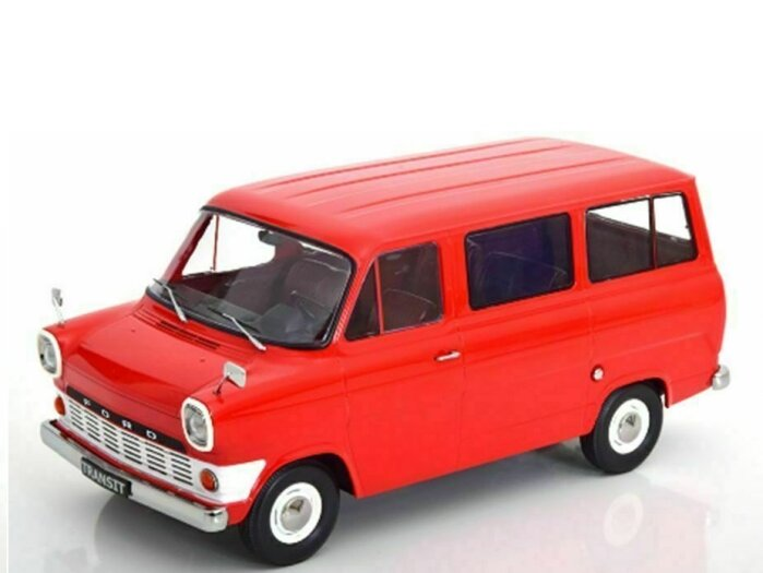 1965 FORD TRANSIT Mk1 Bus in Red 1/18 scale model by KK Scale Models