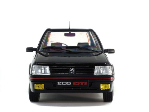 PEUGEOT 205 GTi 1.9 in Black 1/18 scale model by SOLIDO
