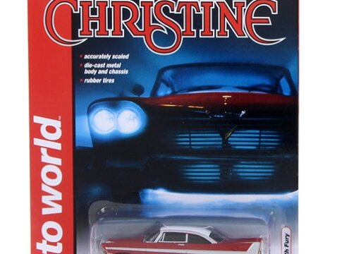 1958 PLYMOUTH FURY - Christine - 1/64 scale model AUTOWORLD