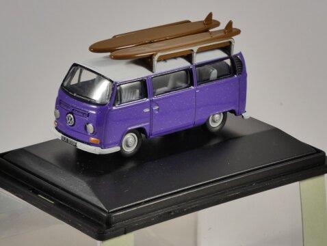 VOLKSWAGEN T2 SURF BUS in Purple 1/76 scale model OXFORD DIECAST