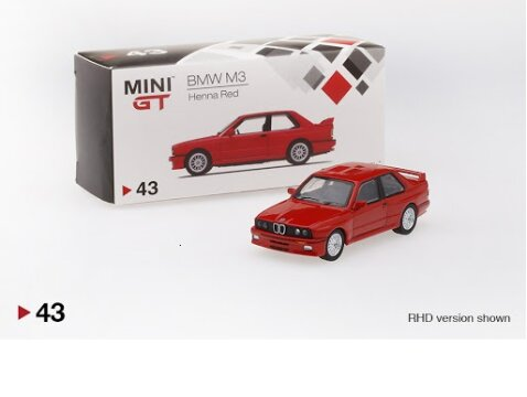 BMW E30 M3 RHD in Red 1/64 scale model by Truescale Miniatures