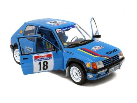 1990 PEUGEOT 205 RALLYE Tour De Corse 1/18 scale model by Solido