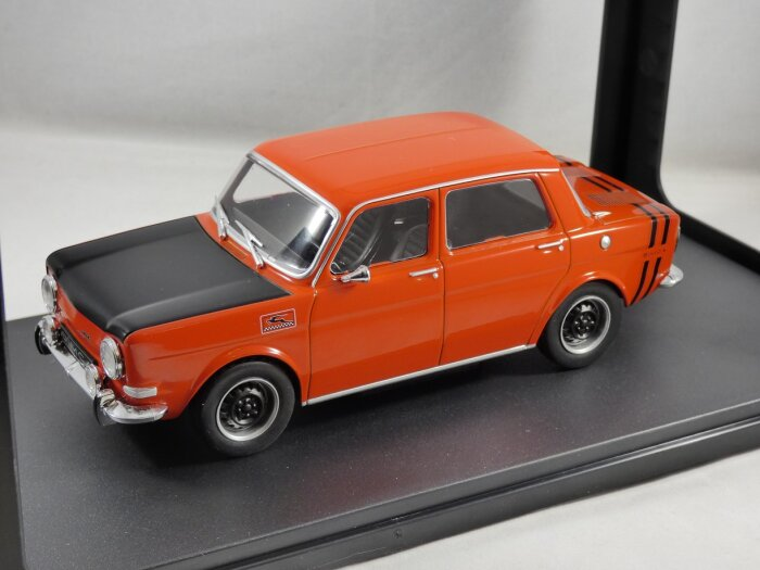 Model - 1970 Simca 1000 Rallye 2 in Red Manufacturer - Whitebox Scale - 1:24 (approx 17cm) Packaging - Brand new, boxed.