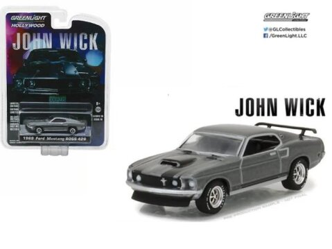1969 FORD MUSTANG BOSS 429 - John Wick 1/64 scale model GREENLIGHT