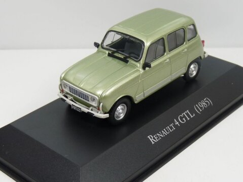 1985 RENAULT 4 GTL in Green - 1/43 scale partwork model