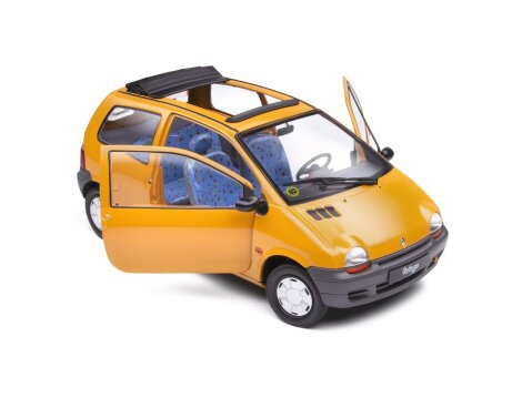 1993 RENAULT TWINGO Mk1 Open Air in Indian Yellow 1/18 scale model by SOLIDO
