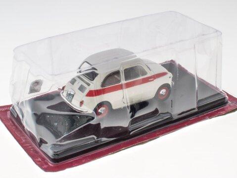 1958 FIAT NUOVA 500 SPORT in White / Red 1/24 scale partwork model