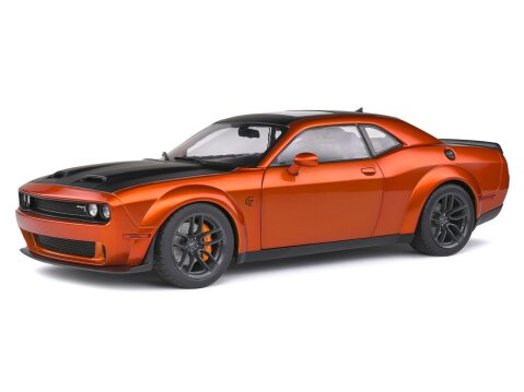 2020 DODGE CHALLENGER R/T Hellcat Redeye in Orange 1/18 scale model by Solido