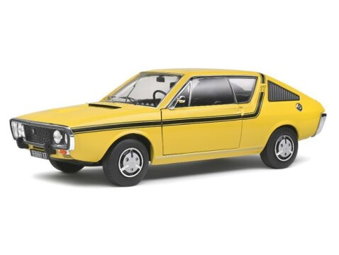 1976 RENAULT 17 TL Mk1 in Yellow 1/18 scale model by SOLIDO
