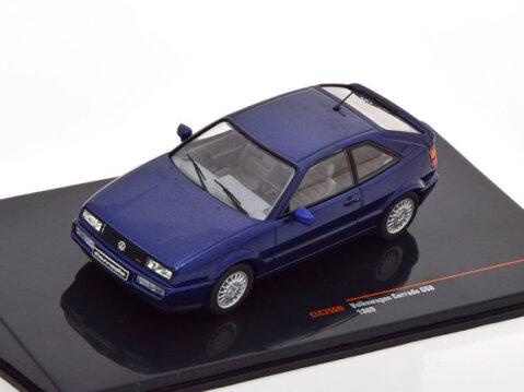 1989 VOLKSWAGEN CORRADO G60 in Blue 1/43 scale model by IXO