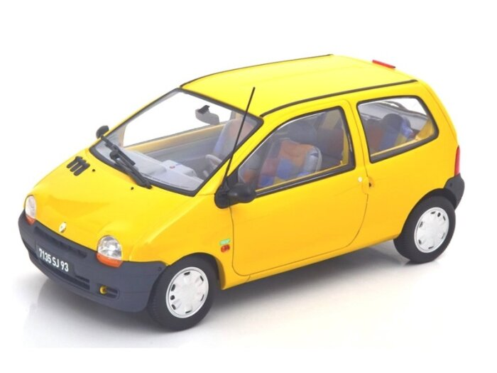 1996 RENAULT TWINGO Benetton in Yellow - 1/18 scale model by Norev