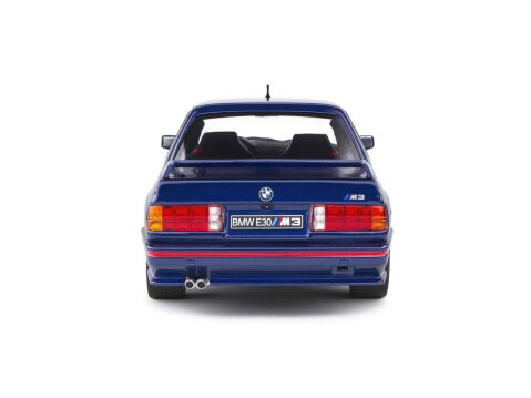 1990 BMW E30 M3 in Mauritius Blue 1/18 scale model by SOLIDO