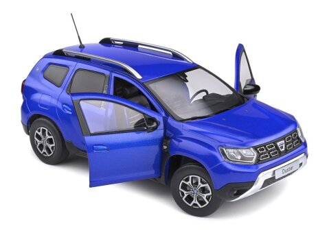2018 DACIA DUSTER Mk2 in Cosmos Blue 1/18 scale model by SOLIDO
